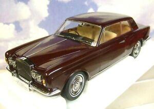 1/18 Paragon 1966-77 Rolls Royce Silver Ombre Mpw Rhd Coupé 2 Portes Bordeaux Rouge 929990982045