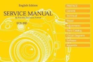 canon eos 20d dslr camera service repair manual ebay rh ebay com canon 20d owners manual Canon EOS 20D
