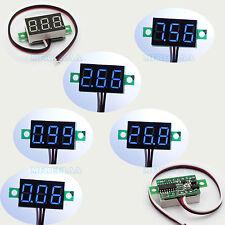 5pcs Mini Blue Dc 0 30v Led Panel Voltmeter 3 Digital Display Voltage Meter