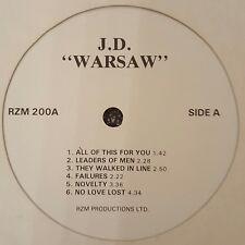 WARSAW J.D. RZM PRODUCTIONS LP 2ND UK PRESSING JOY DIVISION Ex.Cond FREE POST