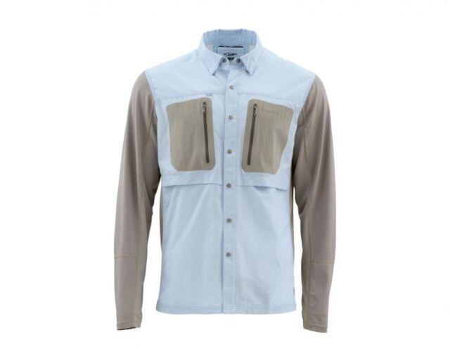 Closeout Size Medium Simms Ebbtide Short Sleeve Shirt-Aqua