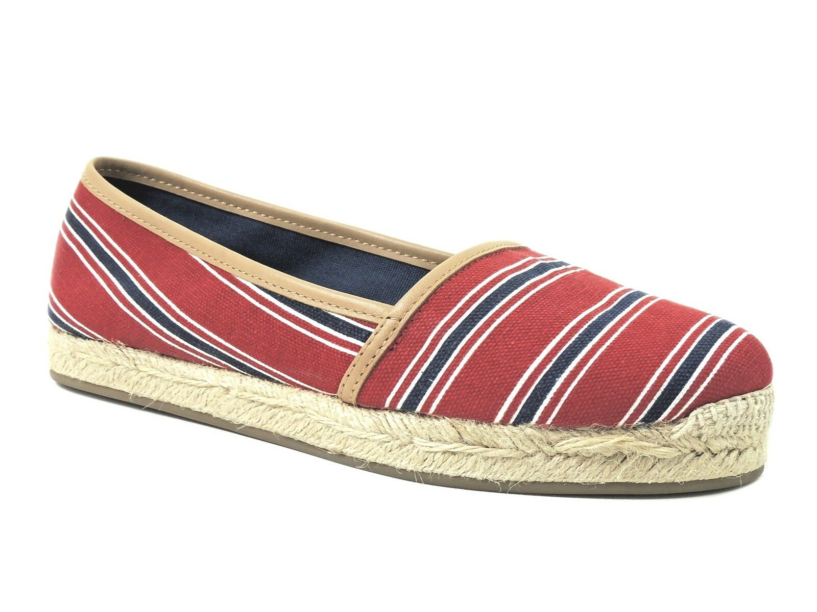 Aqua Women's Tropical Espadrille Loafers Loafers Loafers Red Navy bluee Multi Canvas Size 10 M 78f039
