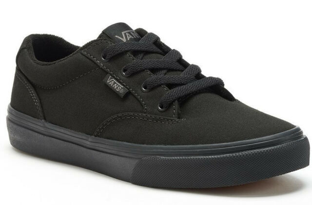 5e4334dca4 Boy s Youth Size 2 VANS Winston Black Canvas Casual Skate Shoes for ...
