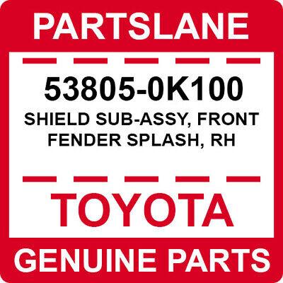 front fender splash rh 538050K100 53805-0K100 Toyota Shield sub-assy New Genu