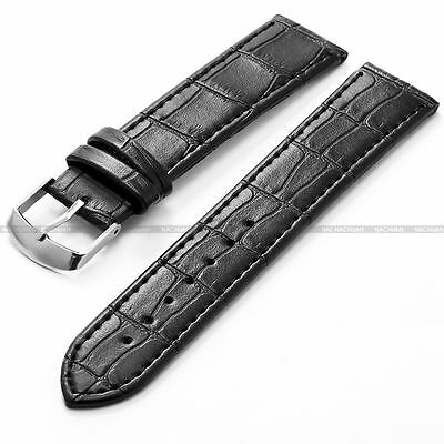 Leather Strap Steel Buckle Men Sport Wrist Watch Band Belt