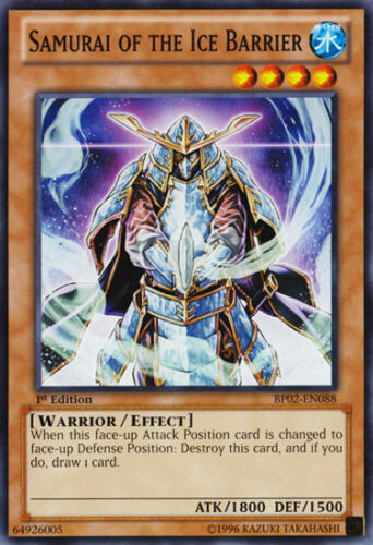 // YU-GI-OH 3X Samurai of the Ice Barrier BP02-EN088 MINT 1ST EDITION
