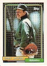 CARNEY LANSFORD  A'S-1992 TOPPS-#495