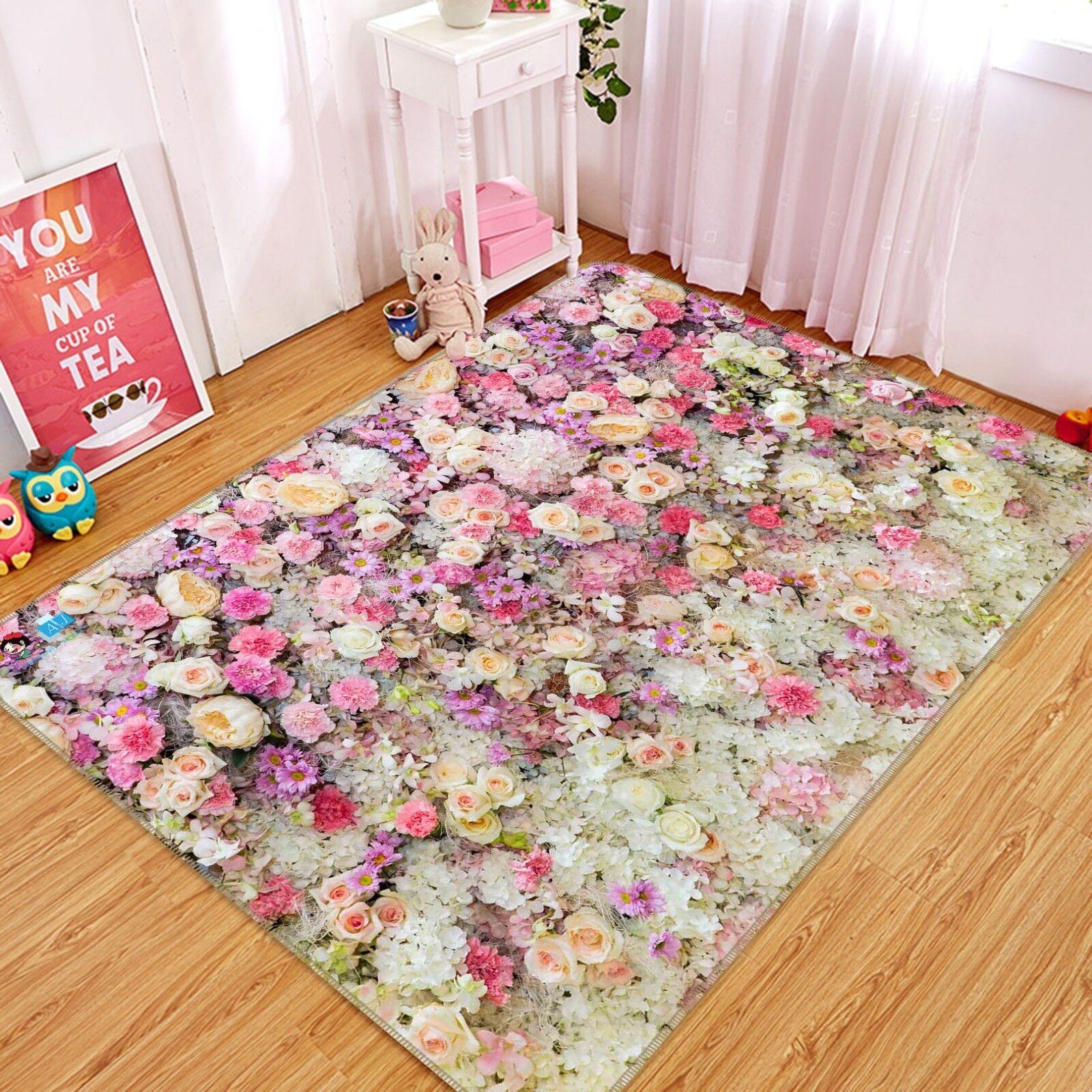 3d 3d 3d Flower Wall 897 Non Slip Rug Mat Room Mat Quality Elegant