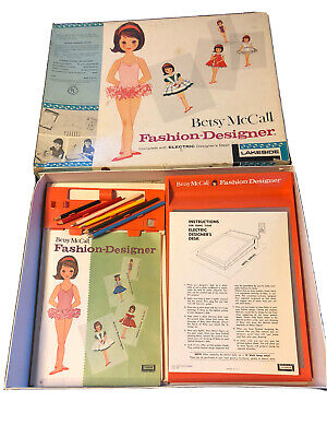 Vintage 1961 Betsy Mccall Fashion Designer Set Electric Light Desk More Tested Ebay