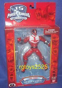Power Rangers Time Force Red Ranger nouvelle édition 15e anniversaire scellée en usine 45557291785