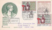 VATICANO VATICAN ENVELOPE BUSTA CAPITOLIUM BIMILL. VIRGILIO 1981 RACCOMANDATA