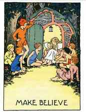 Postcard: Vintage repro - Wendy and Lost Boys - Peter Pan - Make Believe