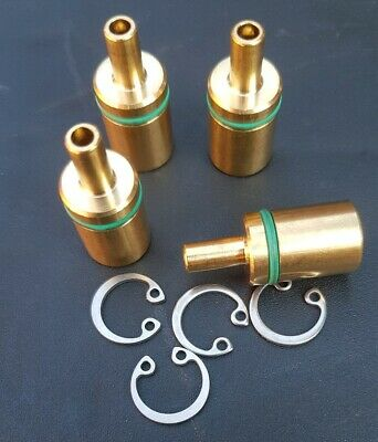 1 PAIR NEW 7023208 CLOSING NIPPLE BYSTRONIC FEMALE BRASS LASER HEAD FITTINGS