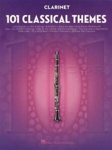 101 Classical Themes For Clarinette Partitions Livre Mozart Bach Handel Chopin-afficher Le Titre D'origine