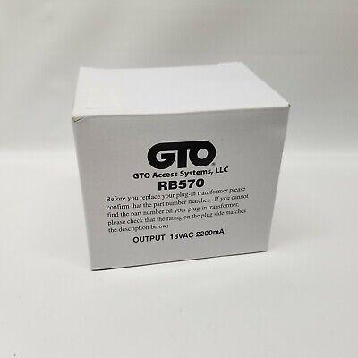 GTO GPX-SL25 Parts UL Only Gate Operators RB570 Transformer 18 Volt//40VA