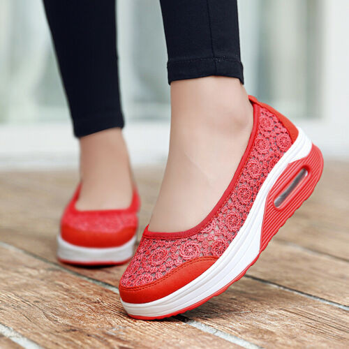 Embroidery Flat Platform New Women Shoes Breathable Walking Hollow Casual Shoes