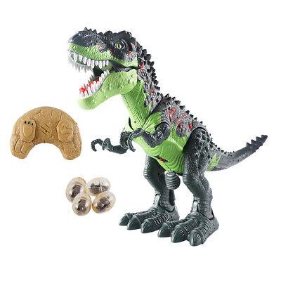 RC Dinosaur Play Model Toys Walking Egg-laying Spraying Children Kids Gift