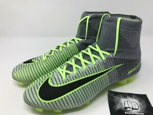 a022fa215700 NIKE MERCURIAL SUPERFLY V FG PURE PLATINUM-BLACK-GHOST GREEN  831940 ...