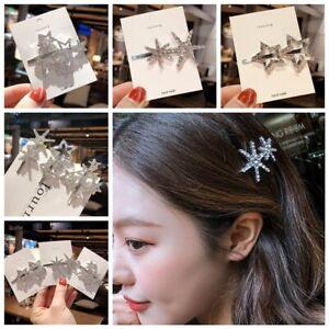 Pentagram-Hair-Accessories-Korean-Crystal-Hair-Clip-Hairgrip-Rhinestone-Metal