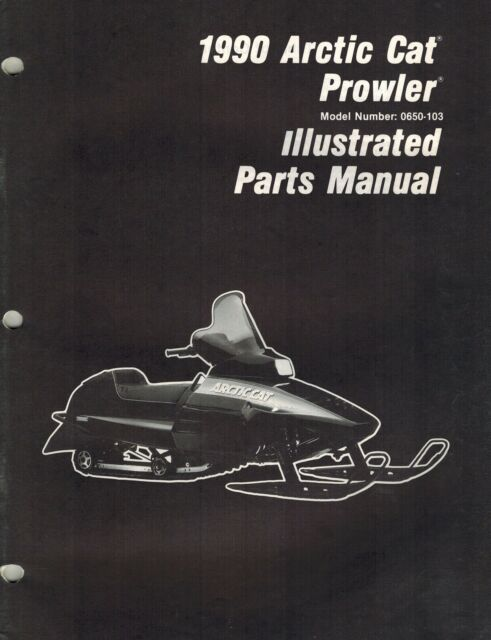 Arctic Cat Prowler Snowmobile Parts Manual 1990
