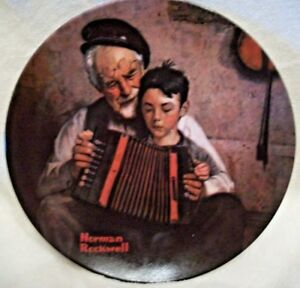 Knowles-Fine-China-Norman-Rockwell-039-s-The-Music-Maker-Plate-20246-AK