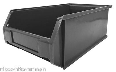New Eco XL Grey Plastic Storage Bins Various Sizes - British Made 100% Recycled