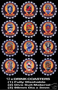 12-x-VFL-TEAMS-REPRODUCTION-OF-1950-039-S-SHELL-OIL-CO-TRANSFERS-AS-DRINK-COASTERS