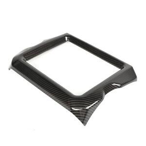 Carbon-Fiber-Navigation-Screen-Cover-Trim-Fit-For-Jeep-Wrangler-JL-Rubincon