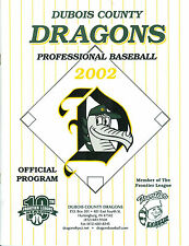 2002 Dubois County Dragons Official Program - Frontier League, Indiana NICE