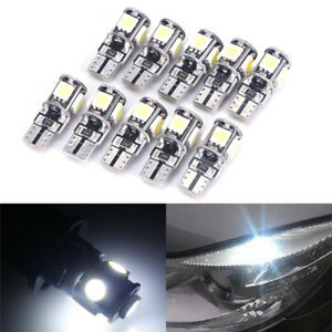 10x-T10-Led-Canbus-Fehlerfrei-5-SMD-Auto-Side-Wedge-Gluehbirne-White168-194-PDH