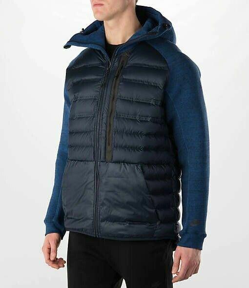 Hollywood Anuncio celos  Men's Nike Tech Fleece Aeroloft 800 Down Jacket SZ XL $350 678261-451Blue  Winter for sale online