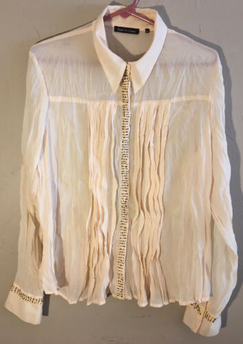 VIOLET & CLAIRE Womens • Size XL • Cream Beaded Sn