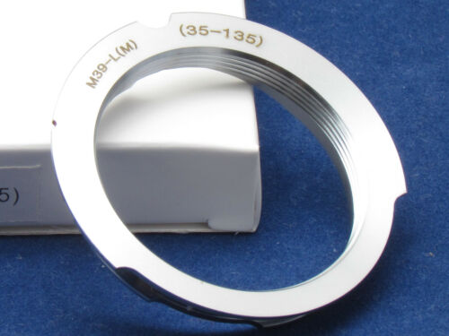 Camera Adapter Leica M39 Screw Mount LSM LTM L39 Lens To Leica M 35-135mm CL 50