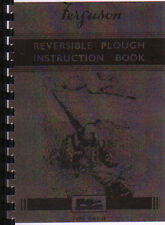 Ferguson (Butterfly} Reversible Tractor Plough Operator Instruction Manual Book