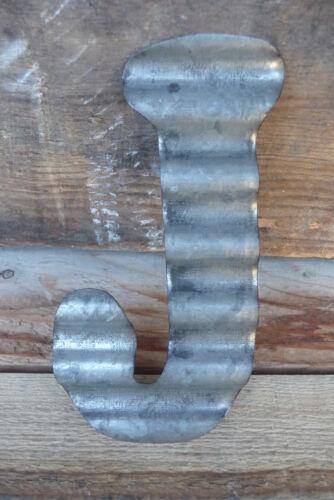 Industrial LETTER Sign WALL DECOR CHOOSE Corrugated Metal ~ G H I J K L M N O