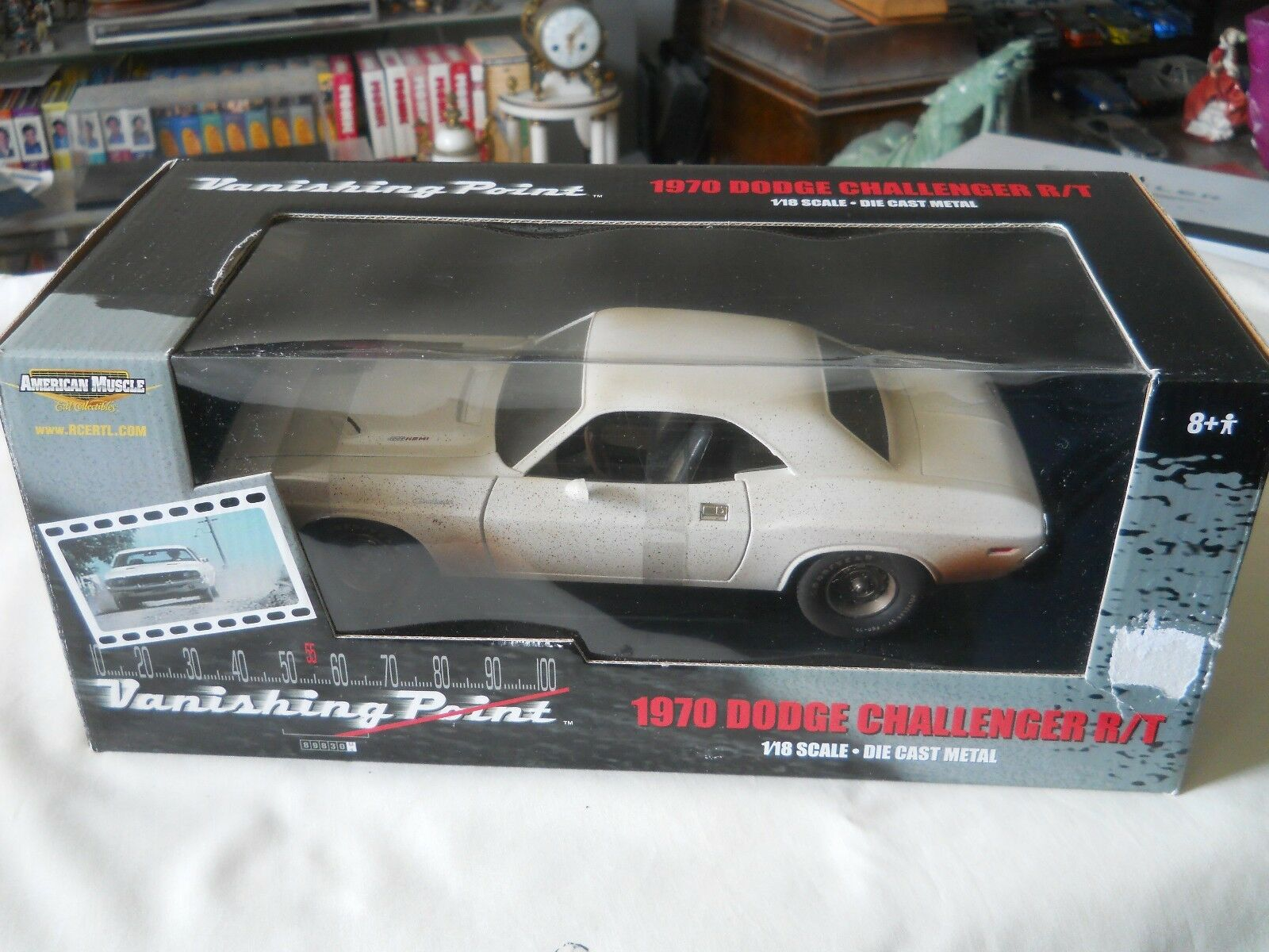 ERTL 1970 Dodge Challenger R T Vanishing Point Dirty version 1 18 Diecast