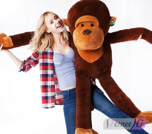 giant huge large big stuffed animal plush brown monkey bear girlfriend gifts ebay. Black Bedroom Furniture Sets. Home Design Ideas