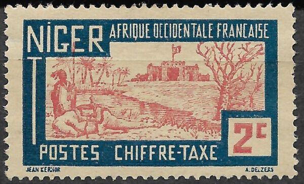 1927. Niger. Chifre-taxes 2 C. Belle Qualité