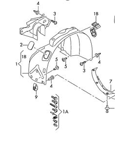 audi rs4 07 09 oem fender liner splash guard 8h0821171d front left 07 Audi RS4 image is loading audi rs4 07 09 oem fender liner splash