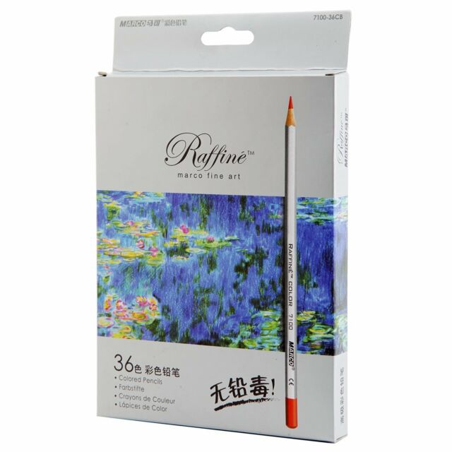 Raffine Marco 36-color Fine Art Colored Drawing Pencils Coloring Books Sketching