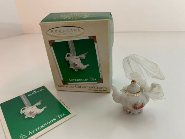 Hallmark Afternoon Tea Miniature 2003 Ornament #1 Porcelain Tea Pot
