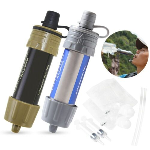 Outdoor Water Filter Straw Water Purifier System with 5000 Liters Filtration