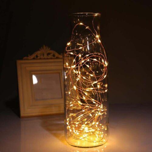LED Fairy Light Jar Lights Color Garden Halloween Decor Waterproof Lamp Home