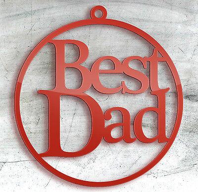 Metodico Papa' , Babbo Natale Tree Bauble, Etichetta Da Regalo, Regalo Di Compleanno, Festa Del Papà, Rosso-