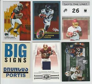 Clinton Portis 2002 TOPPS PRISTINE GOLD REFRACTOR ROOKIE #18/79 & JERSEY CARD