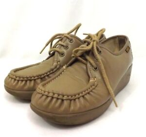 8925109bcb SAS Womens Orthopedic Shoes Tan Leather Lace Up Moccasin Size 6M ...