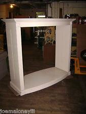Display Retail Rack White Glossy Display Fireplace Display Shelving Unit