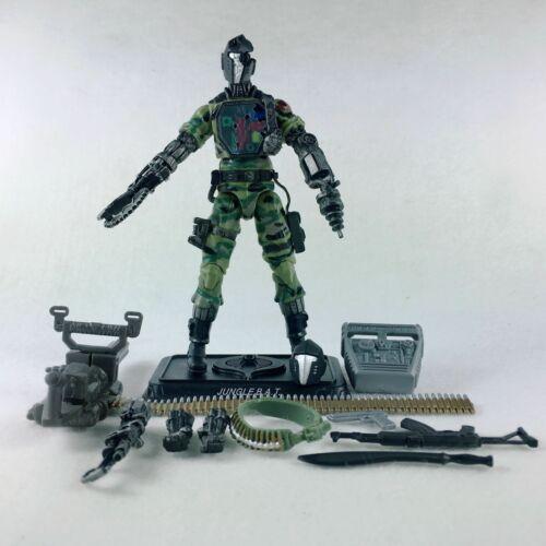 2pcs G.I Joe Pursuit of Cobra Android Figure Jungle Bat /& Leader Commander
