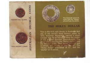 1966-Carded-UNC-Coin-SET-Australia-One-amp-Two-Cent-Green-Card-E-901