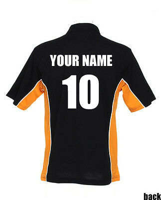 Black//Purple Football Tour Shirts GameGear personalised Teamwear polo shirts